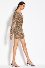 Gathered Party Dress - Leopard