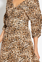 Gathered Sleeve Dress - Leopard