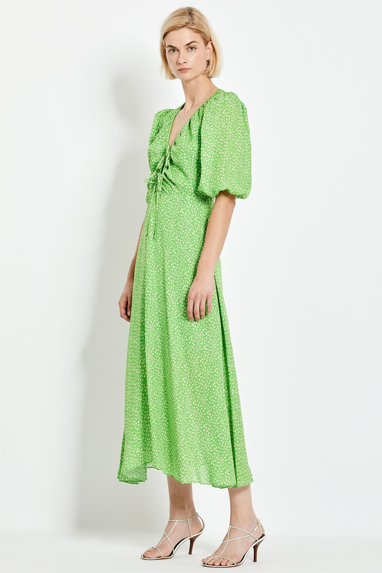 Danielle Dress - Leaf Vine Ditsy