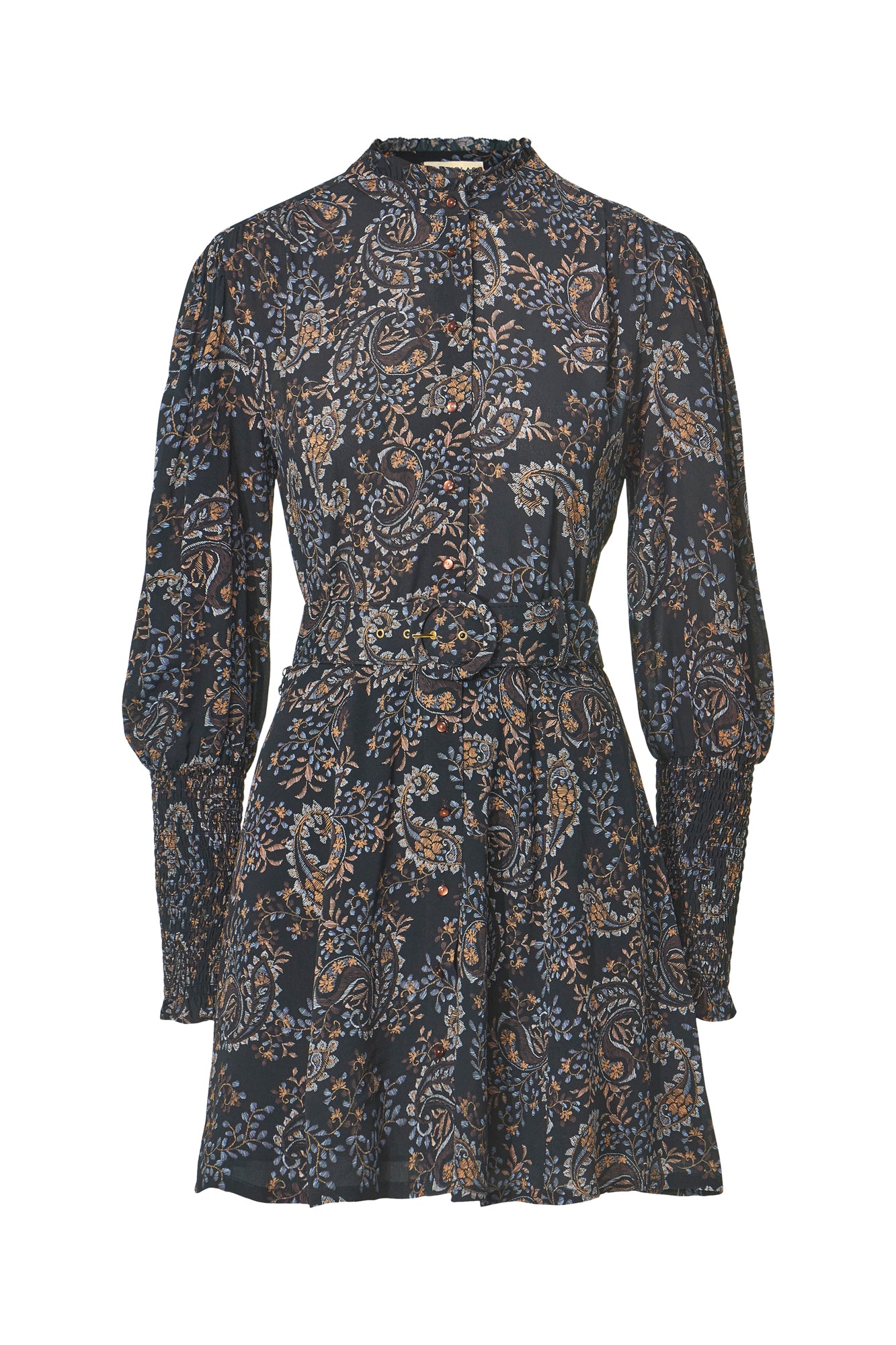 Agadir Dress - Etched Paisley Black