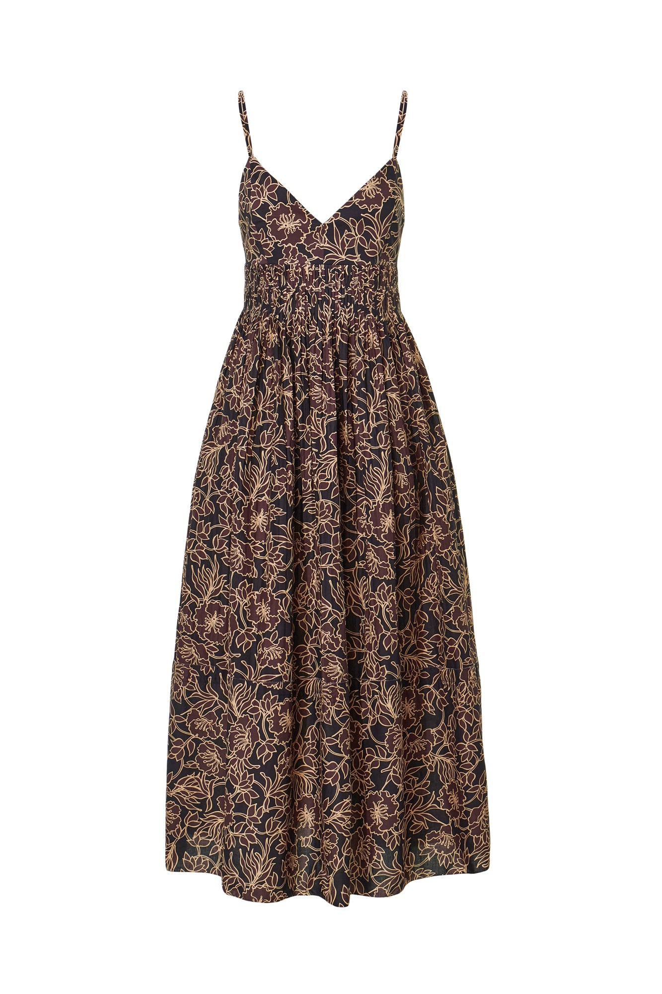Susan Dress - Graphic Flora Cocoa
