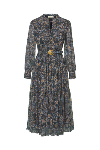 Dasha Dress - Etched Paisley Black