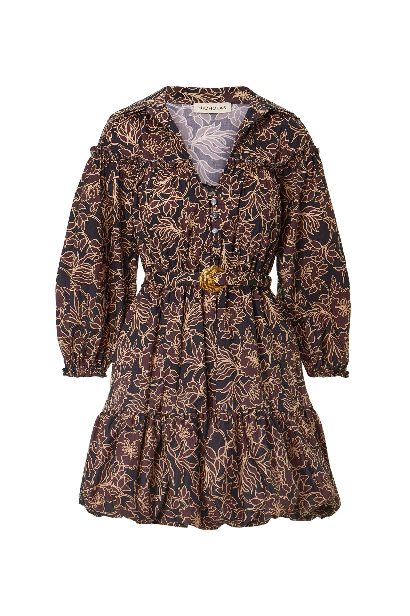 Willow Dress - Graphic Flora Cocoa
