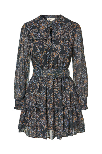 Winona Dress - Etched Paisley Black