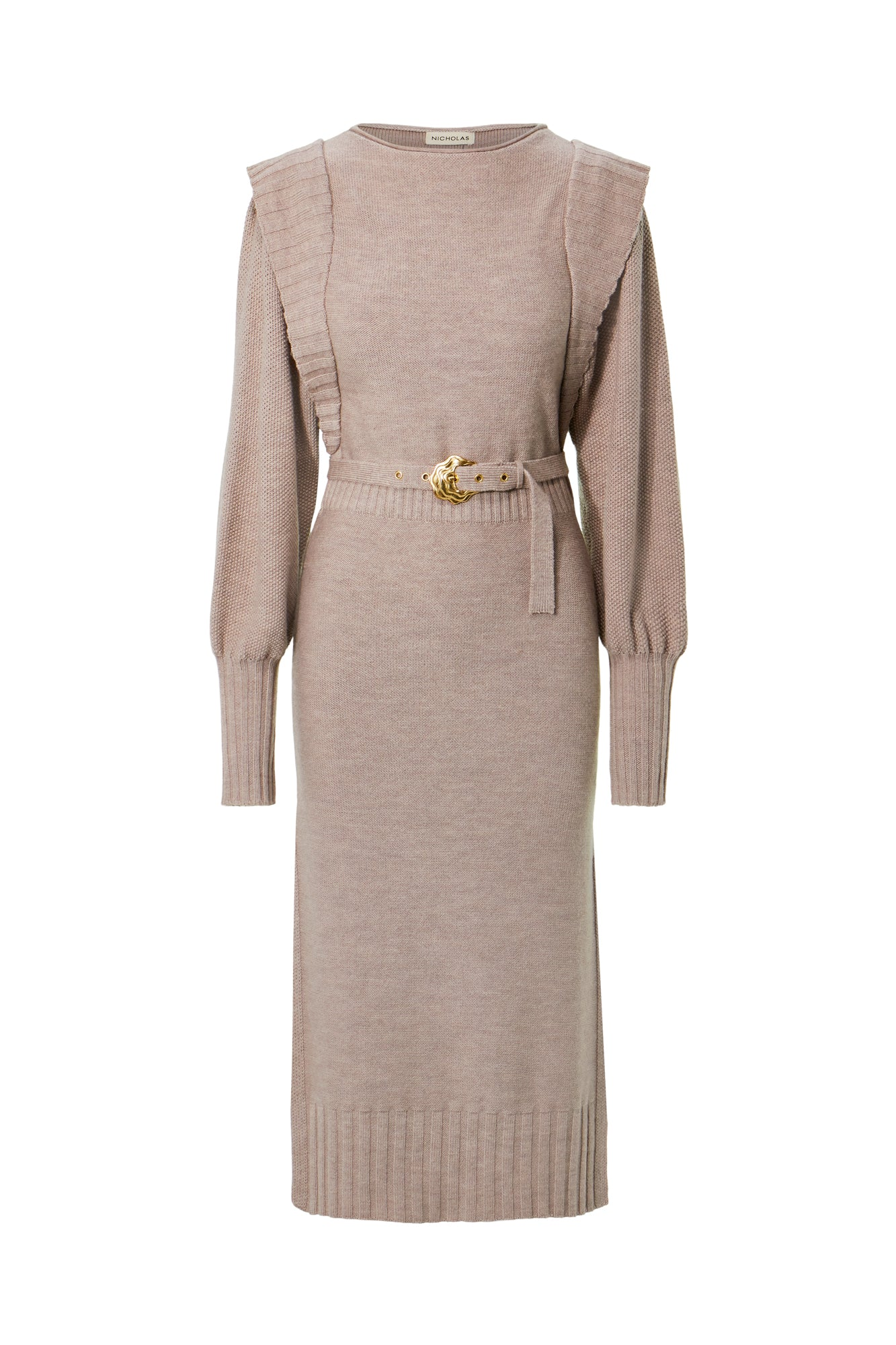 Justine Dress - Taupe