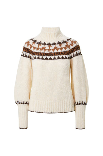 Polina Sweater - Cream Fairisle