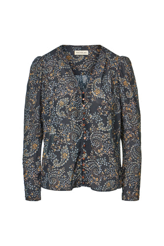 Annika Top - Etched Paisley Black
