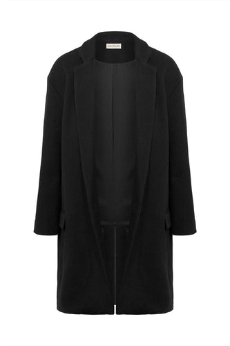 DROP SHOULDER COAT - Black
