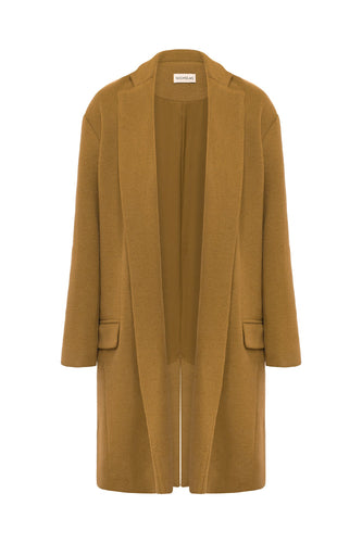 DROP SHOULDER COAT - Camel