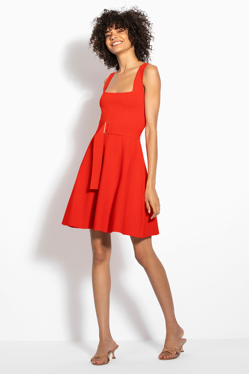 Knit Swing Dress - Poppy