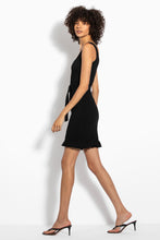 Knit Smocked Mini Dress - Black