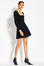 Long Sleeve Skater Dress - Black