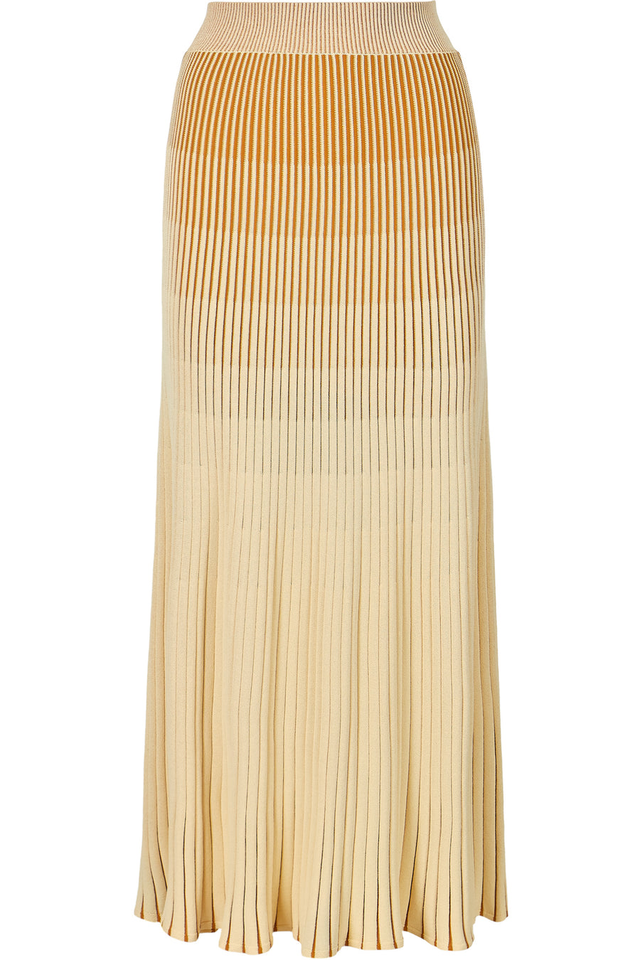 Knit Pleated Skirt - Nude Multi