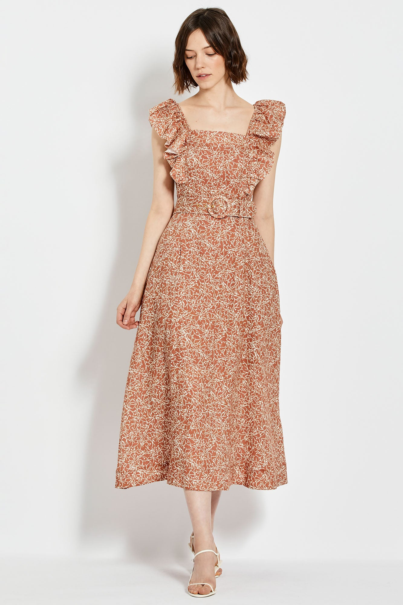 Kelly Dress - Mocha Thyme Print