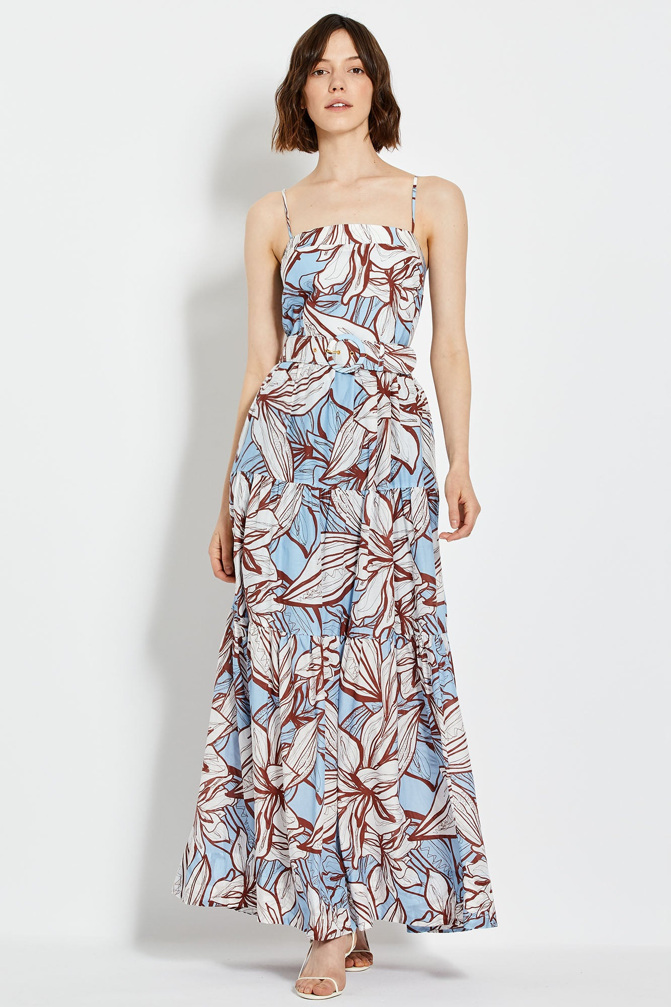 Kerala Dress - Mocha Etched Floral