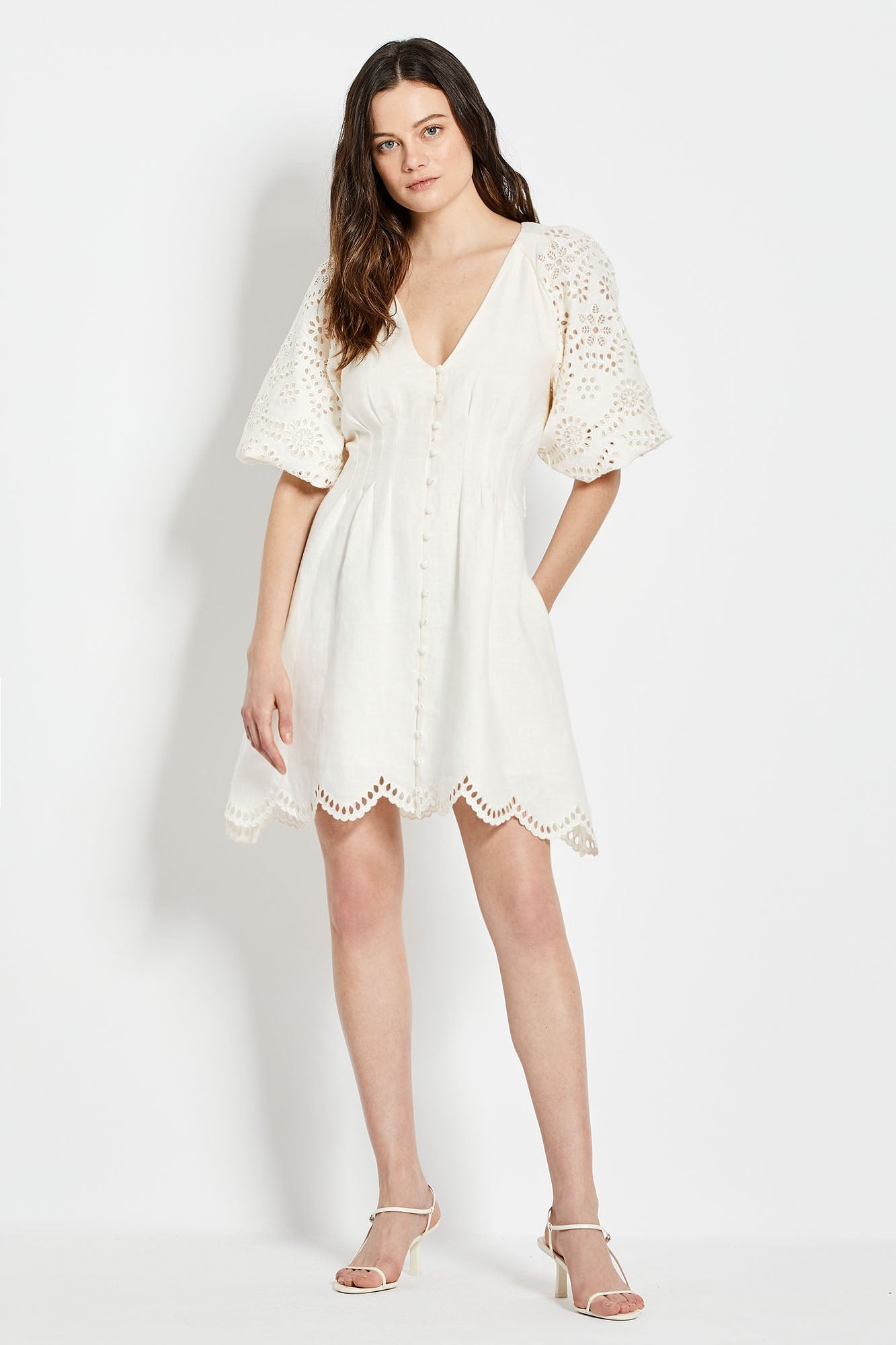 Louise Dress - White