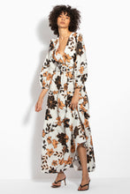 Tiered Maxi Dress - Sepia Multi