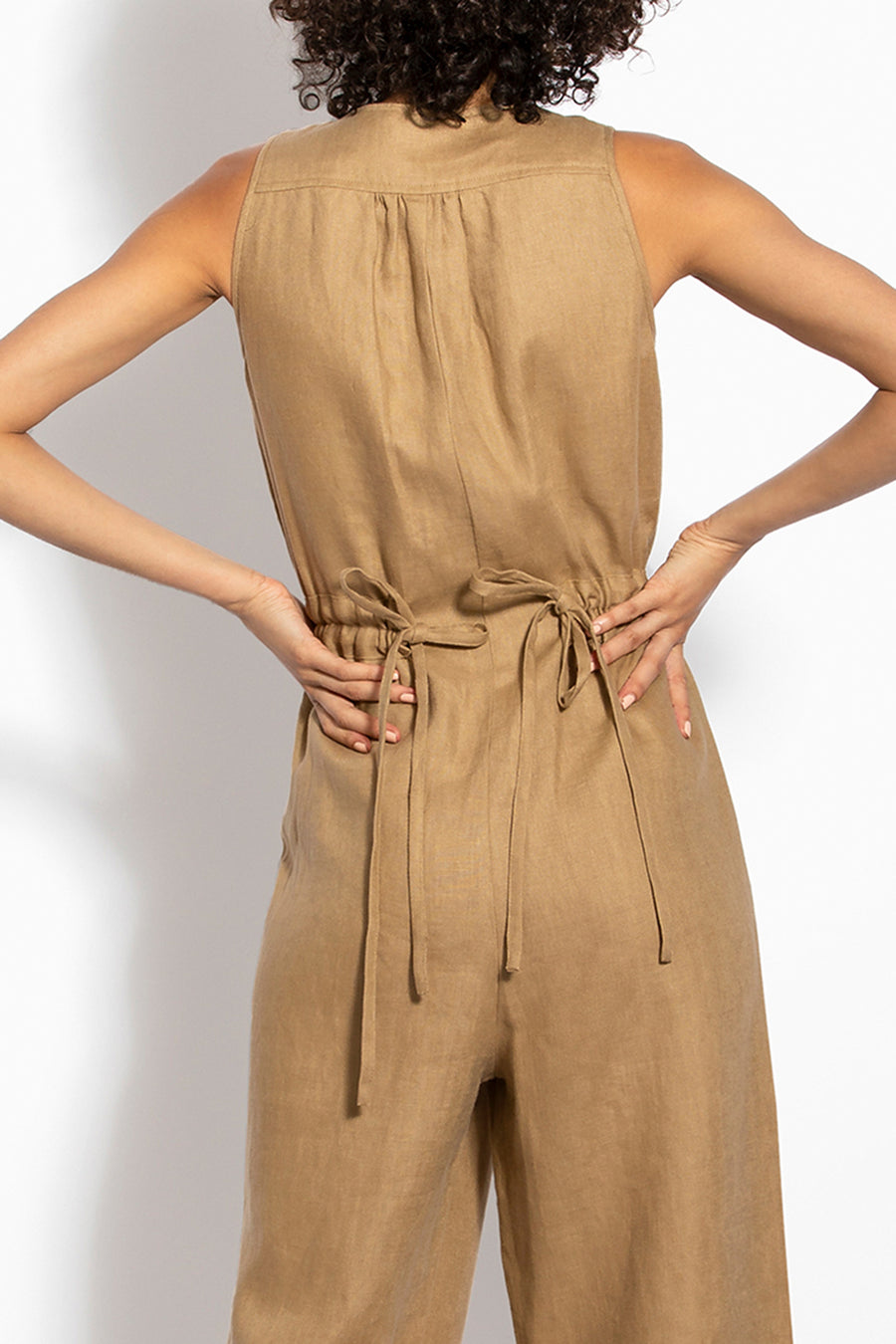 Button Jumpsuit - Bronze
