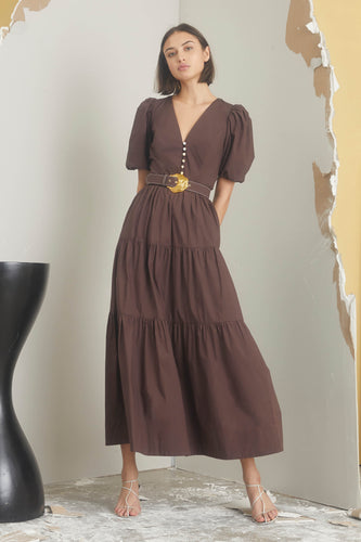 Celie Dress - Cocoa