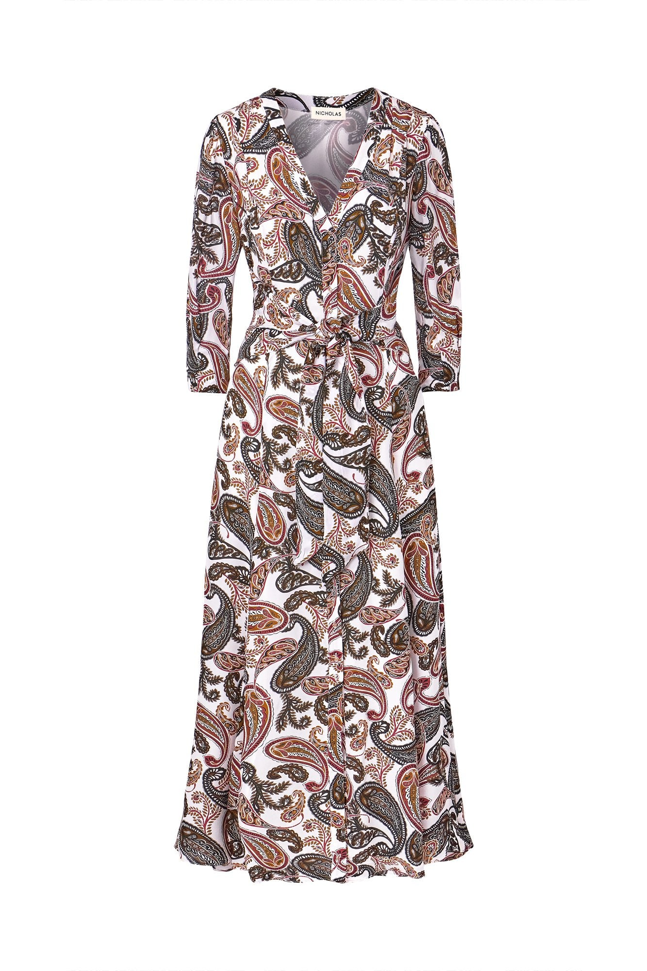 Noura Dress - Jaipur Paisley - Pearl