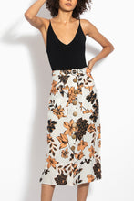 Button Front Skirt - Sepia Multi