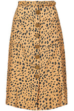 Button Front Skirt - Amber Multi