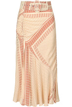Side Gathered Skirt - Champagne Multi