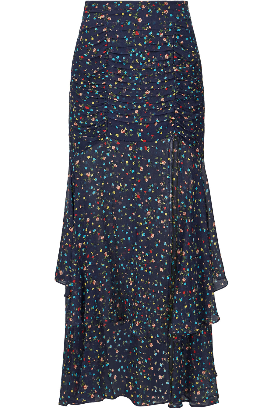 Tuck Front Skirt - Navy Multi