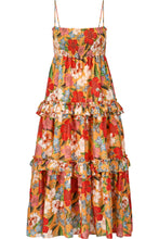 Smocked Prairie Dress/Skirt - Tangerine Multi