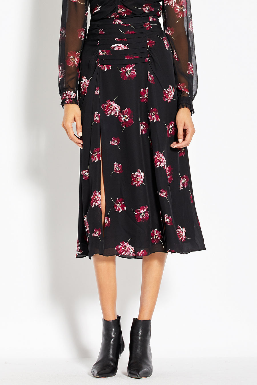 Tuck Skirt - Mulberry Multi