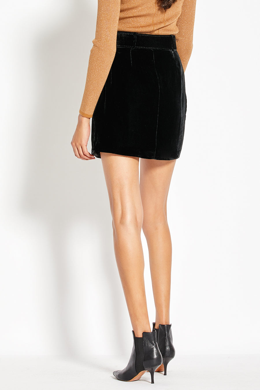 Tulip Mini Skirt - Black