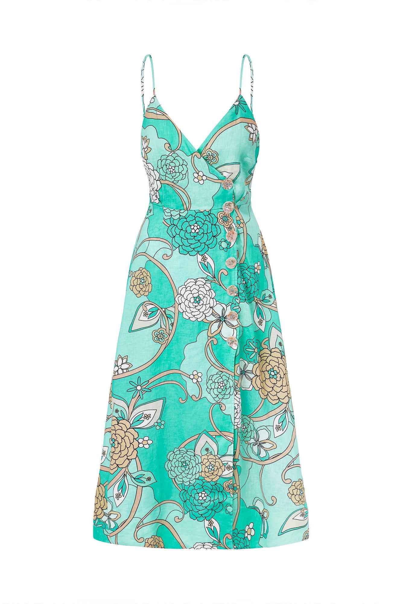 Tara Dress - Piscine Psychedelic Floral