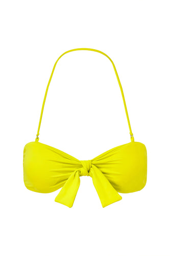 TIE FRONT TOP - Fluorescent Lime