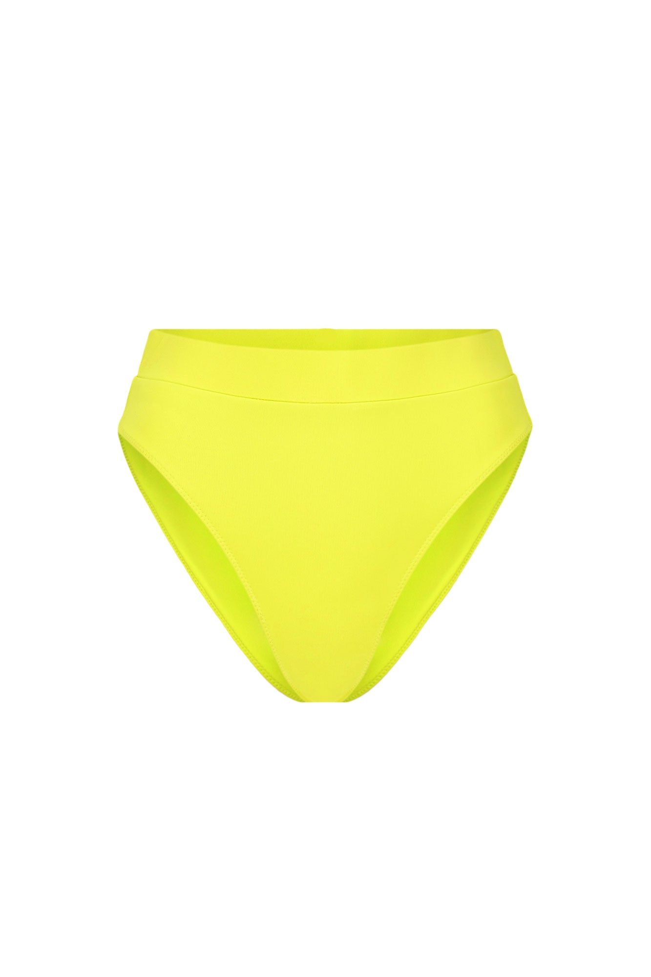 High Waisted Bottom - Fluorescent Lime