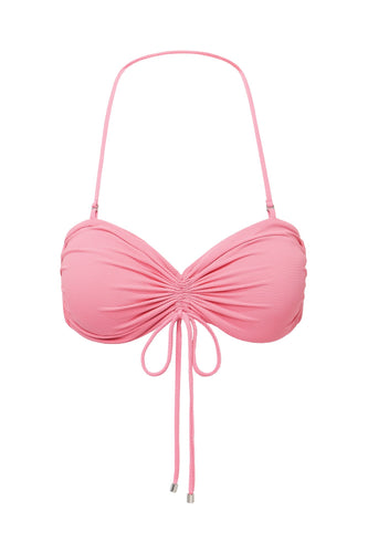 RUCHED DRAWSTRING TOP - FRENCH PINK
