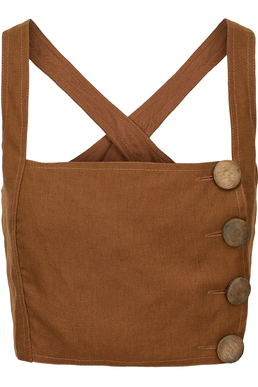 Pinafore Top - Tan