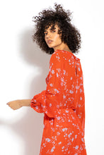 Tie Back Ruffle Blouse - Poppy Multi