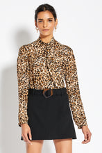 Tie Neck Top - Leopard