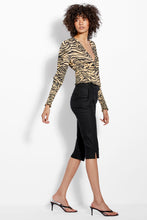 V Neck Smocked Blouse - Zebra