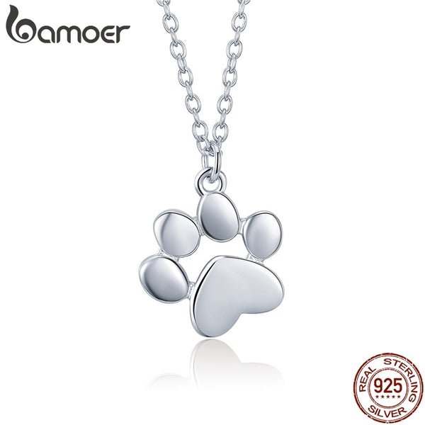 Animal Footprints Dog Cat Footprints Paw Necklaces