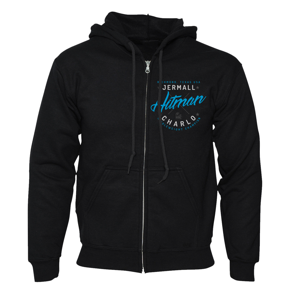Jermall Charlo Hitman Zippered Hoodie Black