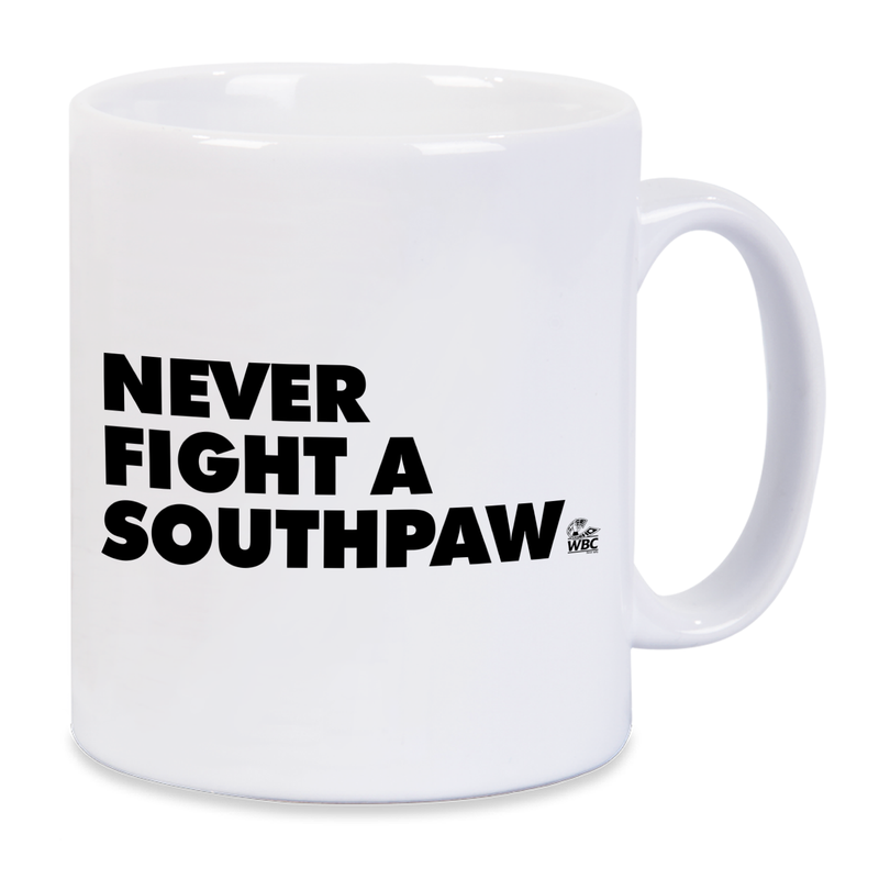 WBC Never Fight A Southpaw Mug - Red