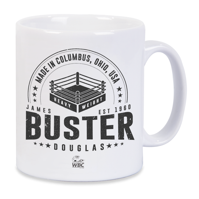 Buster Douglas Made In Mug- White