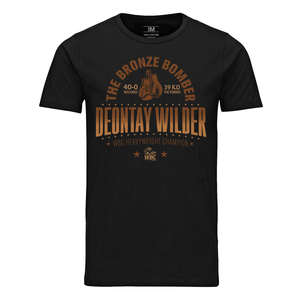 "WBC Deontay Wilder ""The Bronze Bomber"" Tee-Black"