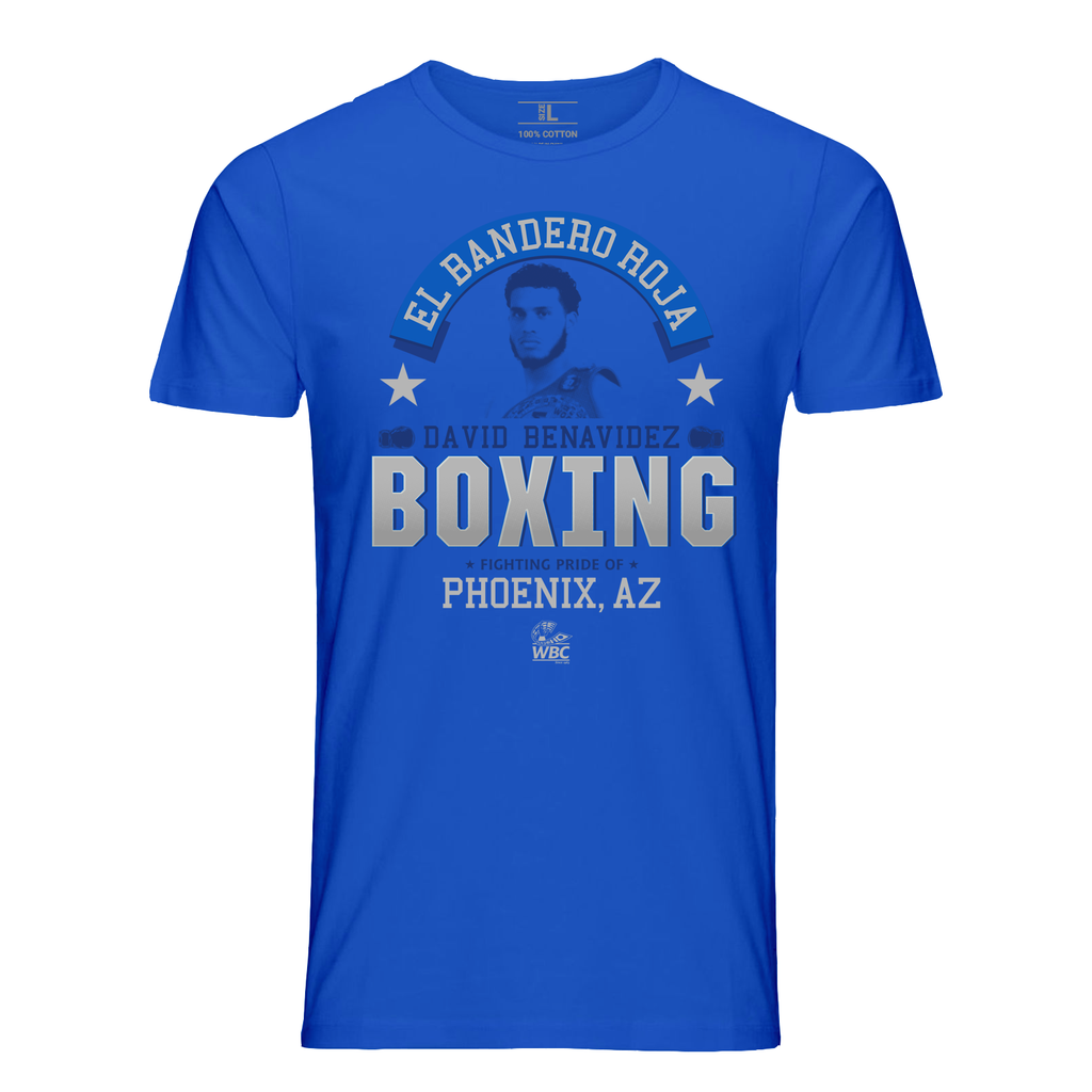 "David Benavidez ""El Bandero Roja"" Icon Tee- Blue"