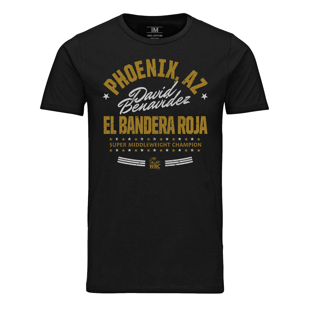 "David Benavidez ""El Bandero Roja""  Star Graphic Tee- Black"