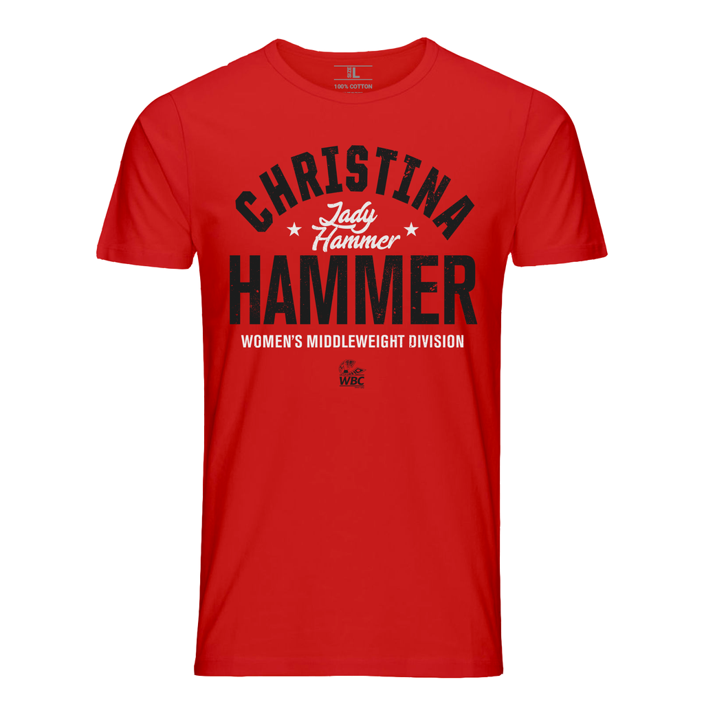 "Christina ""Lady Hammer"" Star Graphic T-Shirt-Red"