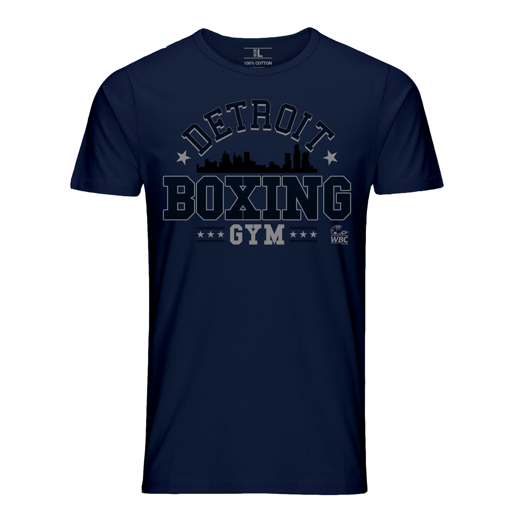 WBC Detroit Boxing Gym Graphic Tee - Navy
