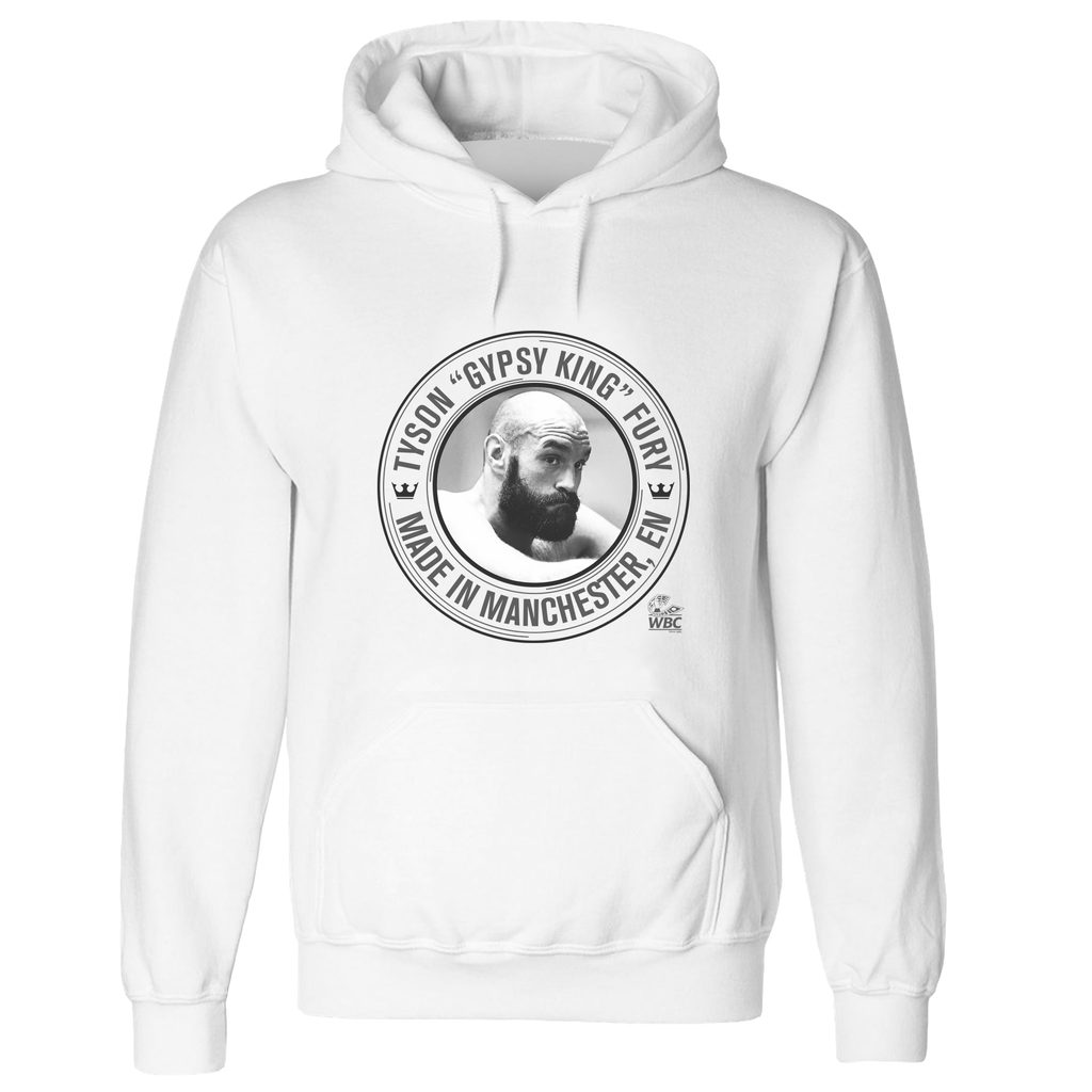 Tyson Fury Image Pullover Hoodie White