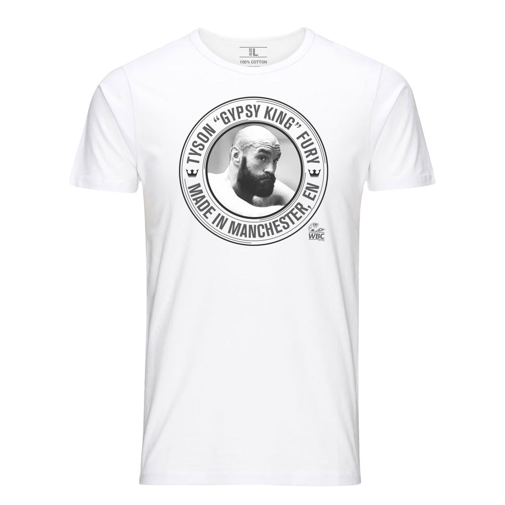 Tyson Fury Image White T-Shirt